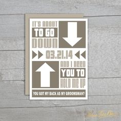 Groomsman Invite  You Got My Back DIGITAL DOWNLOAD by ThreeTwo1, $10.00