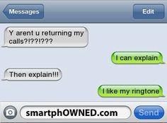 I Like My Ringtoneツ #Humor #Funny #Text_Message                                                                                                                                                     More