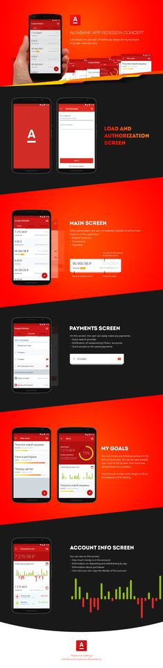 Alfabank app redesign concept on Behance