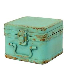 Antique Teal Small Box , I find this incredibly cute