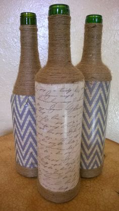 Decorative Wine Bottles by DesertCrafters on Etsy