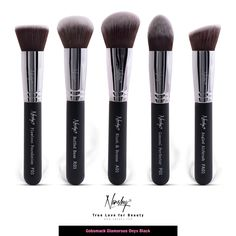 Look what I found at Nanshy.com  Gobsmack Glamorous Onyx Black | Face Makeup Brush Set #nanshy #makeupbrushes