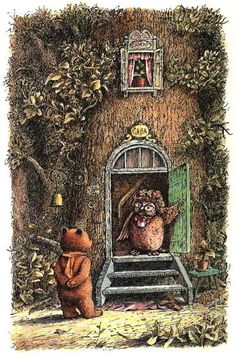 Boris Diodorov's illustration for A. A. Milne's Winnie the Pooh