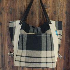 Check bag Leather Handle, Woven Fabric, Diaper Bag, Zipper, Shop, Check, Bags, Accessories, Handbags
