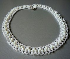 Best Seed Bead Jewelry  2017  Free pattern for necklace Matilde