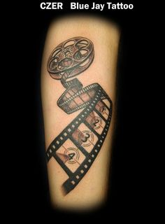 Award Winning Movie Reel Realistic Tattoo By CZER @ Blue Jay Tattoo
