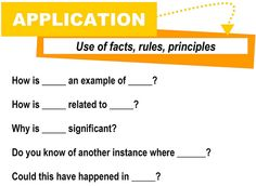 Application [critical thinking skills]