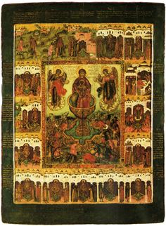 Богоматерь Живоносный источник, с клеймами Virgin Mary, Bohemian Rug, Religion, Santa, Internet, Birds, Lds Art, Nun, Orthodox Icons