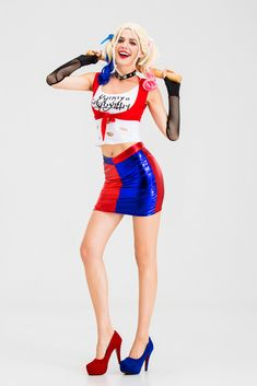 Adult /& Kids Harley Quinn Cosplay Costume Suicide Squad Coser Fancy Dress