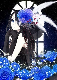 Beautiful but dark anime girl Beautiful Anime Girl, I Love Anime, Awesome Anime, Anime Chibi, Kawaii Anime, Dark Anime, Anime Style, Anime Kunst, Manga Girl