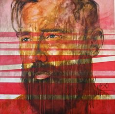 """""""goat of the sin"""" by Munro South African Artists, Goats, Portrait, Abstract, Painting, Men, Beards, Summary, Painting Art"""