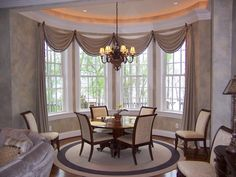 Excellent Of Window Treatments For Bay Windows In Dining Room At Plans And HD Pictures E5so