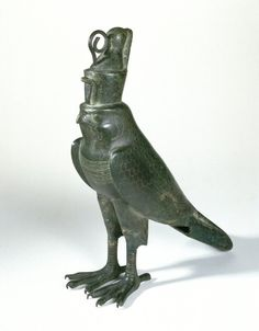 Horus Falcon Wearing Double Crown - Egypt (Late Period - Ptolemaic Period), c. 664-30 BCE