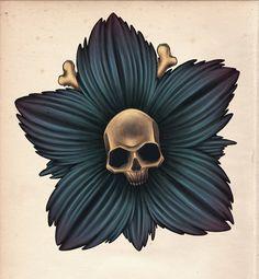 Skull Flower...love it- just might look nice on my tiki leg piece:)