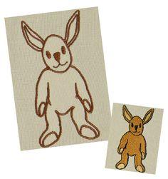 Hase Stickdatei auf www.gabrielles-embroidery.com