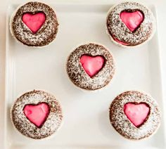DIY Food Gifts for Valentine's Day - Heart Shaped Cupcakes