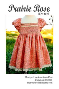 FREE pattern for a baby/kid sized prairie dress for your littlest praire girl this Halloween!