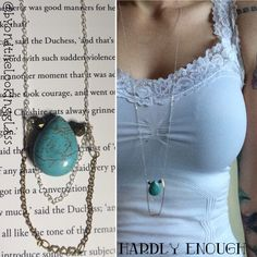 A personal favorite from my Etsy shop https://www.etsy.com/ca/listing/478769185/hardly-enough-turquoise-drop-necklace