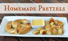 Homemade Pretzels.  Surprisingly easy to make and taste better than the mall!