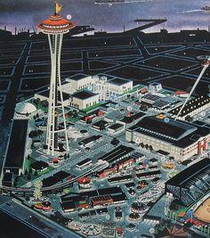 ART SKOOL DAMAGE : Christian Montone: Of Monorails, Rockets & Gyroscropes: 1962 Seattle Worlds Fair