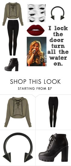 """""""Skin And Bones"""" by nevertoodedicated ❤ liked on Polyvore featuring Topshop and Charlotte Russe"""