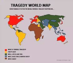 How media inform about tragedies based on country where happened.
