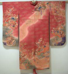 """Gorgeous Kimono Gown made of vintage """"Furisode"""".  http://www.facebook.com/KIMOKAME"""