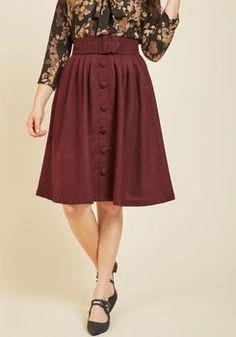 01487cb20d Intern of Fate Midi Skirt in Burgundy Vintage Trends, Retro Vintage,  Vintage Style,