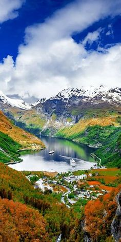 The Geiranger Fjord in Norway.