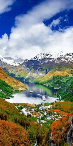 The Geiranger Fjord in Norway.  Adventure | #MichaelLouis - www.MichaelLouis.com