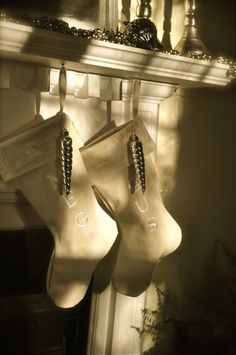 stockings hung with care. Xmas Stockings, Christmas Time, Holiday, Heels, Boots, Inspiration, Fashion, Heel, Crotch Boots