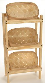 7811 Bakers Display Rack w/3 Baskets