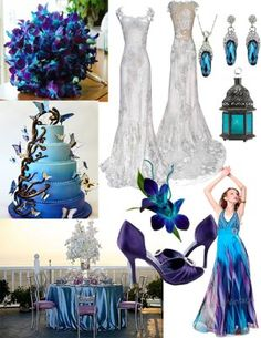 I NEED ADVICE...Blue Dendrobium Orchids? | Weddings, Style and Decor, Planning | Wedding Forums | WeddingWire Purple Orchid Wedding, Blue And Purple Orchids, Peacock Wedding Dresses, Blue Wedding, Midnight Wedding, Post Wedding, Spring Wedding, Blue Dendrobium Orchids, Wedding Color Schemes