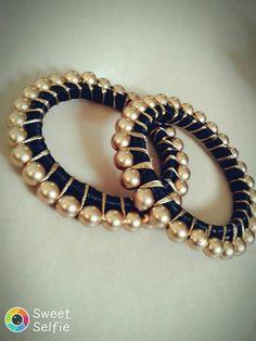 Silk Thread Bangles Design, Silk Bangles, Silk Thread Earrings, Bridal Bangles, Thread Jewellery, Fabric Necklace, Fabric Jewelry, Stylish Jewelry, Fashion Jewelry