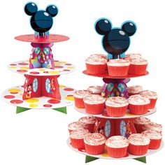 Wilton 079064 Treat Stand-Mickey Mouse x Holds Other, Multicoloured Minnie Mouse Cake Decorations, Minnie Mouse Birthday Cakes, Mickey Birthday, Minnie Mouse Party, Mouse Parties, Birthday Ideas, 3rd Birthday, Birthday Parties, Mickey Mouse Cups