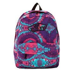Vans Backpack Realm Tie Dye in Pink Purple ($38)