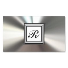 Metal glass business card template silver metal productzazzle karri best price initial monogram silver metal business cards initial monogram silver metal business cards yes i can say you are on right site we just reheart Choice Image