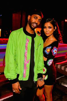13 Pictures That Prove Big Sean And Jhené Aiko Are Ultimate Couple Goals Big Sean and Jhené Aiko wearing bright neon colors Cute Celebrity Couples, Cute Black Couples, Black Couples Goals, Cute Couples Goals, Couple Goals, Celebrity Moms, Celebrity Style, Jhene Aiko, Big Sean And Jhene
