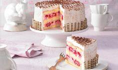 Kleine Himbeer-Torte ganz groß Rezept: Eine Himbeer-Quark-Sahne-Torte für die kleine Kaffeerunde - Eins von 5.000 leckeren, gelingsicheren Rezepten von Dr. Oetker!