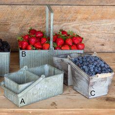 Galvanized Berry Baskets