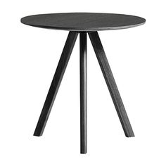 Discover the HAY Copenhague Round Table - Ø50cm - Oak Black at Amara