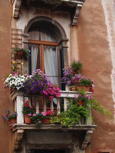 Balcony Garden in Venice Italy