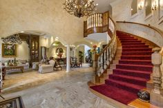 This grand sweeping staircase is a thing of sheer beauty!