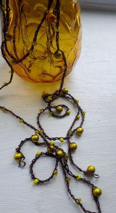 Lemon Zester Versatile crocheted necklace / bracelet by FleasKnees, $15.00