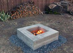 DIY outdoor fire pit by Homemade Modern