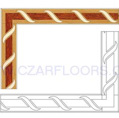 Wood Borders: B2. Check other inlays, wood and stone medallions, borders and parquet from Czar Floors.