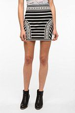 silence & noise bodycon mini skirt! love this! You can find this at Urban outfitters in the store or online.