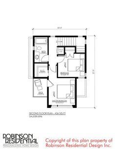 Contemporary Sauder-896 - Robinson Plans Duplex House Plans, Luxury House Plans, Modern House Plans, Simple House Design, Cool House Designs, Sakura House, House Construction Plan, Narrow Lot House Plans, Plans Architecture