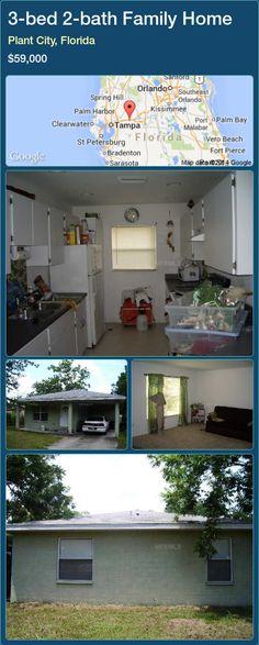 3-bed 2-bath Family Home in Plant City, Florida ►$59,000 #PropertyForSaleFlorida http://florida-magic.com/properties/34204-family-home-for-sale-in-plant-city-florida-with-3-bedroom-2-bathroom
