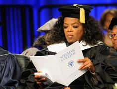 Oprah Winfrey  at the 2012 Spelman College Commencement in Atlanta